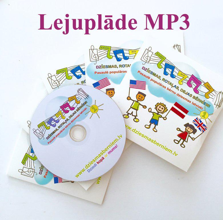 """CD """"PASAULĒ POPULĀRAS BĒRNU DZIESMAS LATVISKI"""" Nr 1"""